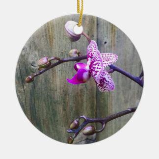 orchid love rundes keramik ornament
