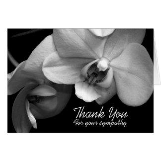 Orchidee BW-Beileid danken Ihnen Anmerkungs-Karte Karte