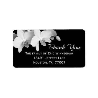 Orchidee danken Ihnen zu beschriften Adressaufkleber