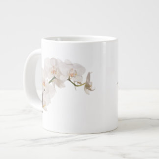 Orchidée de mite blanche mug jumbo