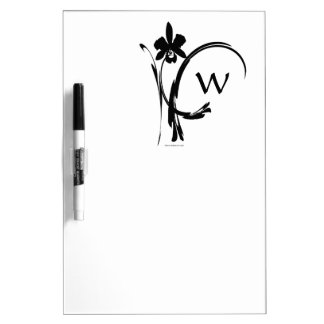 Orchidee Inksplash Gewohnheits-Monogramm Memoboard