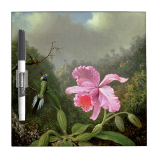 Orchidee und Kolibris Martin Johnsons Heade Trockenlöschtafel