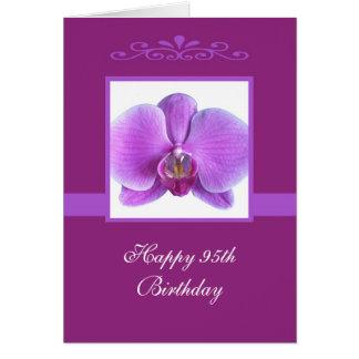 Orchideen-95. Geburtstags-Karte Karte