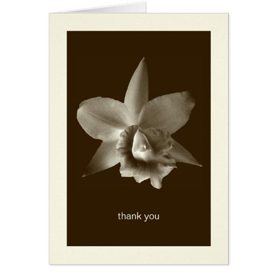 Orchideen-Blumen-Fotogewohnheit danken Ihnen Karte