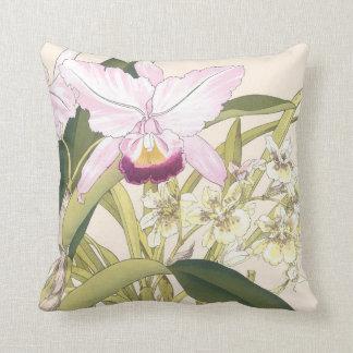 Orchideen-Blumen-Kissen Kissen