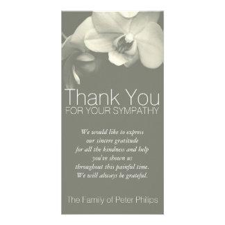 Orchideen-Kakipflaumenbaum-Beileid danken Ihnen Karte