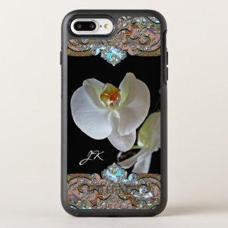 Orchideen-Monogramm-hübsches Blumen OtterBox Symmetry iPhone 8 Plus/7 Plus Hülle