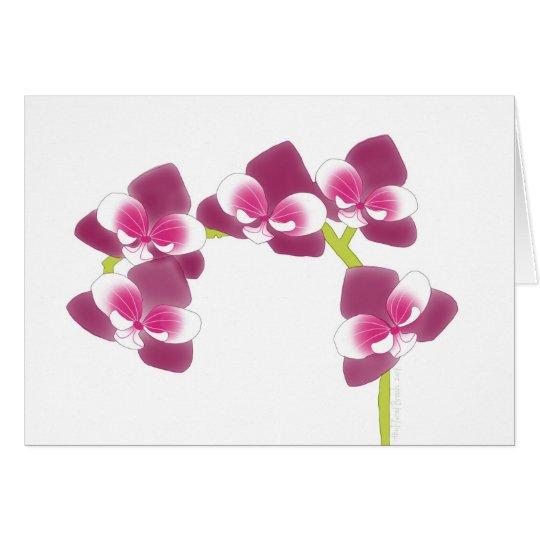 Orchideen-Niederlassung Grußkarte