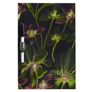 Orchideen-und Lilien-Rückabstraktes Trockenlöschtafel
