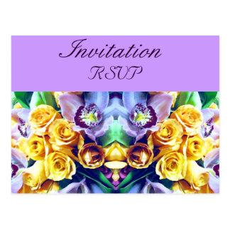 Orchideen und Roses_ Postkarte