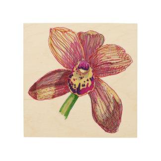 Orchideenwandkunst Holzleinwände
