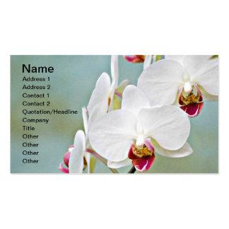 Orchidées Carte De Visite Standard