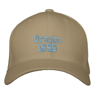 Oregon 1859 bestickte kappe