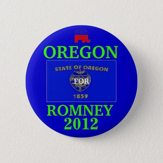 Oregon für Romney 2012 Runder Button 5,7 Cm