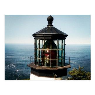 Oregon-Leuchtturm-Postkarte Postkarte