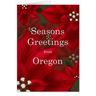 Oregon-Poinsettia-Frohe Festtage Karte