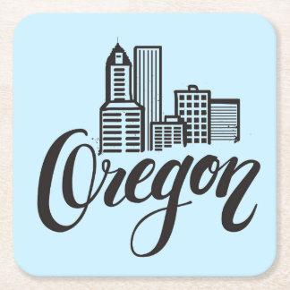 Oregon-Typografie-Entwurf Rechteckiger Pappuntersetzer
