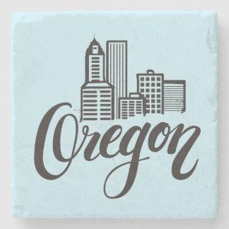 Oregon-Typografie-Entwurf Steinuntersetzer