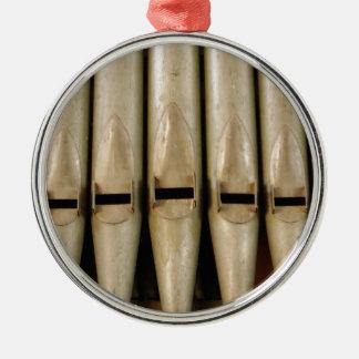 Orgelpfeife-Verzierung Rundes Silberfarbenes Ornament