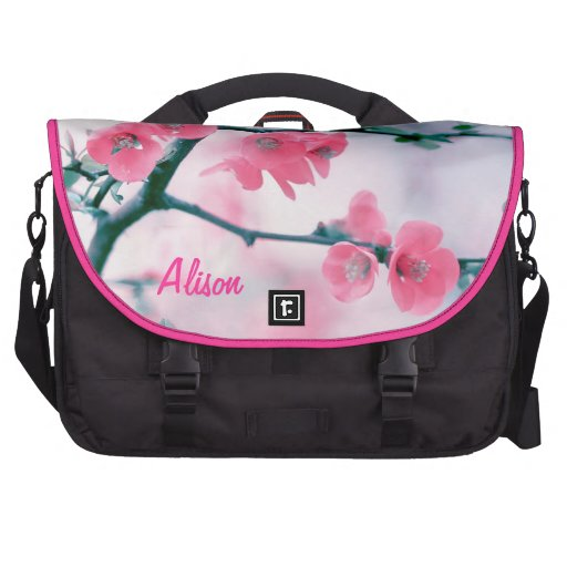 Oriental tree with pink flowers sacoche pour ordinateur portable
