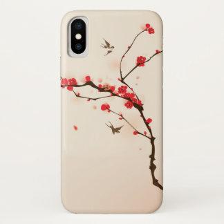 Orientalische Artmalerei, Pflaumenblüte im iPhone X Hülle