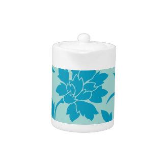 Orientalische Blume - Limpet-Muschel - Blau