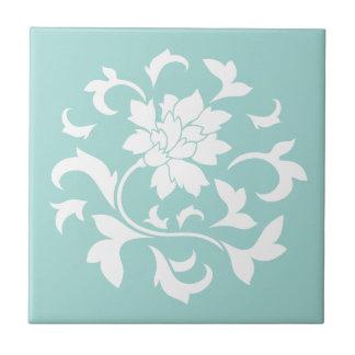 Orientalische Blume - Limpet-Muschel Kleine Quadratische Fliese