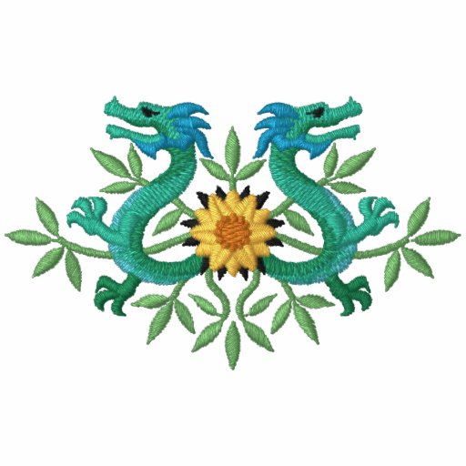 Orientalische Drache-Blumen Kapuzenpulli