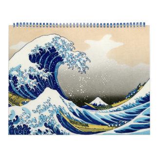 Orientalische Japaner Hokusai Fuji Kalender
