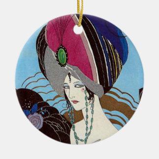 Orientalische Schönheit Kreis-Verzierung Rundes Keramik Ornament