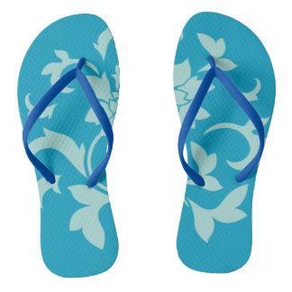 Orientalischer Blume-Limpet Muschel-Blau Badesandalen
