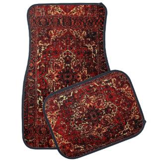 Orientalischer Wolldeckeentwurf in dunkelrotem Autofußmatte