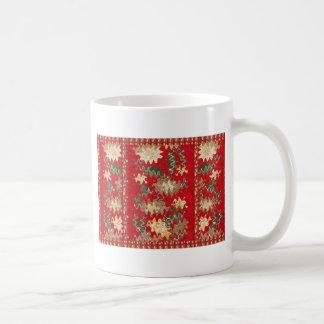 Orientalisches chinesisches Rot bewegt seidene Kaffeetasse