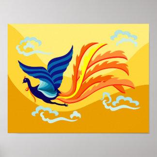 Orientalisches fliegendes Phoenix-Plakat Poster