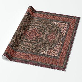 Orientalisches persisches antikes Rot Geschenkpapier