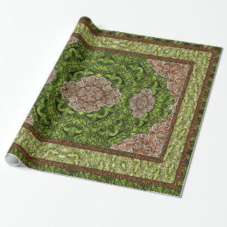 Orientalisches persisches Grün Geschenkpapier