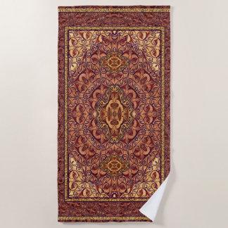 Orientalisches persisches rotes Gold Strandtuch