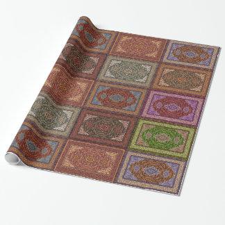 Orientalisches persisches Wolldecke-Muster Geschenkpapierrolle