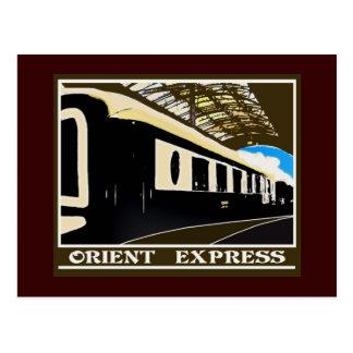 Orientexpressklassische Bahnpostkarte Postkarte