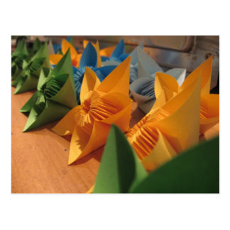 Origami Blumen kusudama Art Postkarte