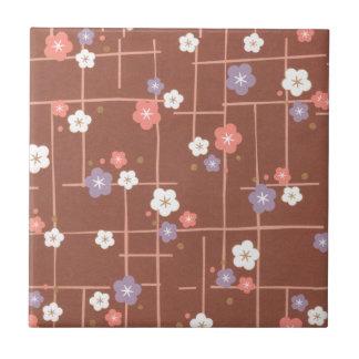 Origami Blumen u. Linien Kleine Quadratische Fliese