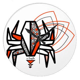 Origamikrabbe Große Wanduhr