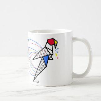 Origamipapagei Kaffeetasse