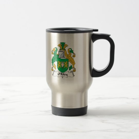 O'Riley Familienwappen Edelstahl Thermotasse