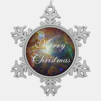 Orions-Nebelfleck die rötlich braune NASA Schneeflocken Zinn-Ornament