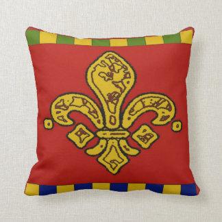 Orleans-Lilie, -ROT und -gold Kissen