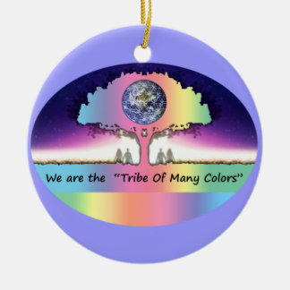 "Ornament Keramik ~ ""Tribe Of Many Colors"""