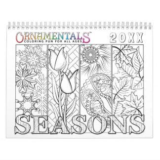 OrnaMENTALs-Jahreszeiten, die durch das Jahr Kalender