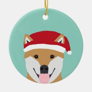 Ornement de doge de Noël - chien de Noël d'inu de