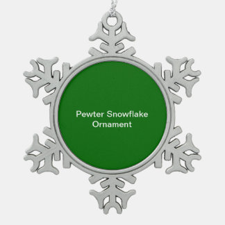 Ornement Flocon De Neige Arrière - plan de vert d'ornement de flocon de nei
